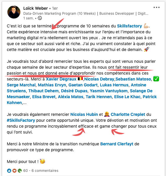 Témoignage formation marketing digital